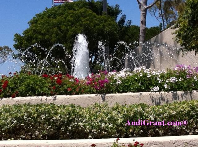 Carson CA Civic Center Fountain